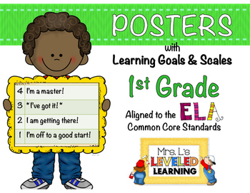 1st Grade ELA Posters with Marzano Scales - Aligned to Com