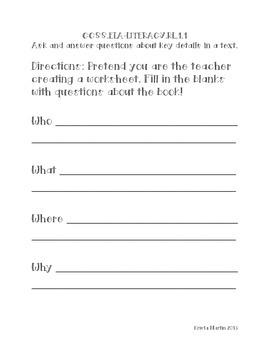 1st Grade ELA Reading Response Scrapbook