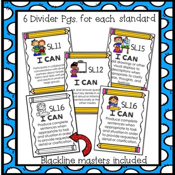 First Grade Common Core ELA Assessments-Speaking & Listening