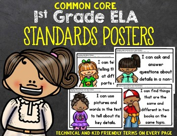 1st Grade ELA Standards Posters