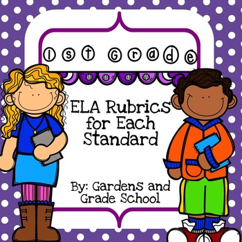 1st Grade - ELA Standards with Rubrics