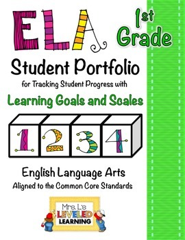 1st Grade ELA Student Portfolio Pages with Marzano Scales - FREE!