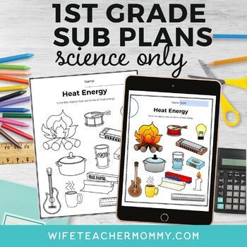 1st Grade Science Sub Plans for Departmentalized Teachers