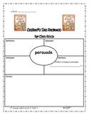 1st Grade ELA Unit 3 Arthur's Pet Business Persuade Vocab. Map