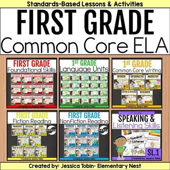 1st Grade ELA Year-Long Bundle Curriculum-  ELA Common Core Standards