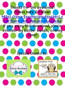 1st Grade Easter Egg Fractions- Common Core Aligned