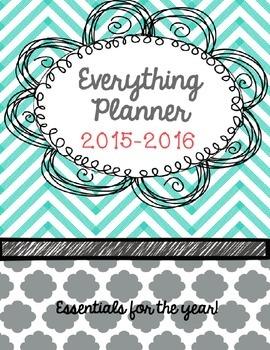 2015-2016 1st Grade {Editable} Teacher Binder/Calendar