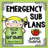 1st Grade Sub Plans Apples