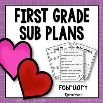 1st Grade Emergency Sub Plans February