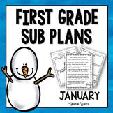 1st Grade Sub Plans January