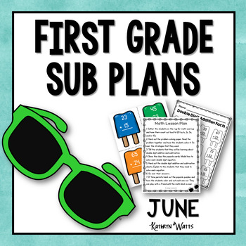 1st Grade Emergency Sub Plans June