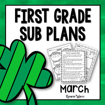 1st Grade Emergency Sub Plans March