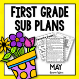 1st Grade Sub Plans May
