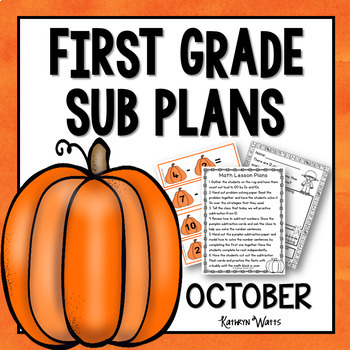 1st Grade Emergency Sub Plans October