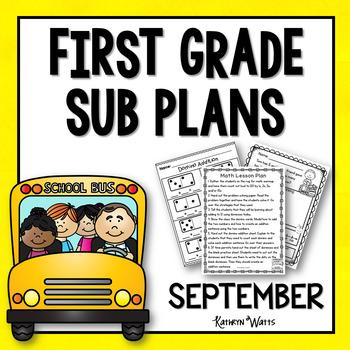 1st Grade Emergency Sub Plans September