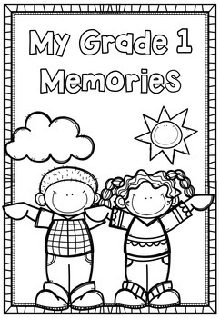 1st Grade End Of Year 40 page Memory Book