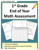 1st Grade End of Year Math Assessment