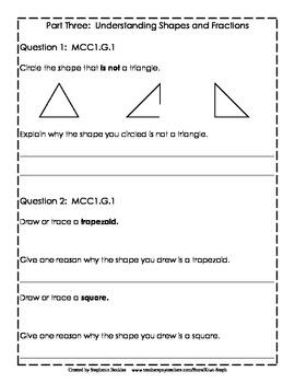 1st Grade End-of-Year Math Assessment