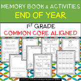 1st Grade End of Year Memory Book and Activities - Distanc