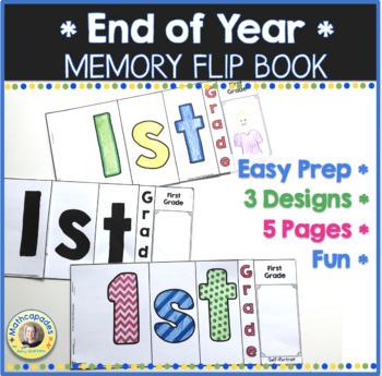 End of Year Memory Flip Book - 1st Grade