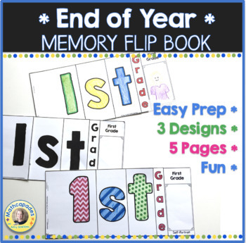 End of Year Memory Flip Book Activity - 1st Grade
