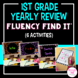 1st Grade End of Year Review Fluency Find It