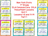 1st gr. Engage NY Common Core ELA CKLA Powerpoint Unit 1 L