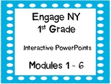 1st Grade, Engage NY,  PowerPoint Bundle, Modules 1-6 updated