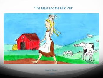 "1st Grade Engage NY - ""Maid and the Milk Pail"" Vocabulary Slides"