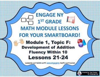 1st Grade Engage NY Module 1, Topic F lessons (21-24) for your SmartBoard!