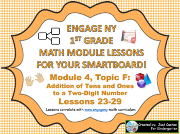 1st Grade Engage NY Module 4, Topic F lessons (23-29) for your SmartBoard!