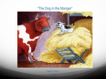 """1st Grade Engage NY - """"The Dog in the Manger"""" Vocabulary Slides"""