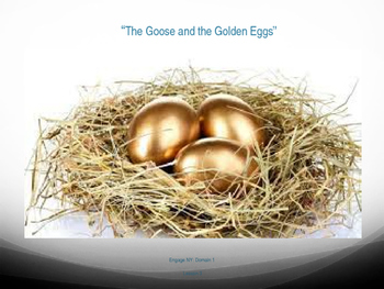 "1st Grade Engage NY - ""The Goose and the Golden Eggs"" Vocabulary Slides"