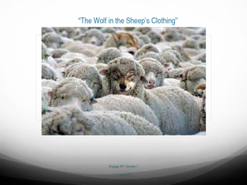 """1st Grade Engage NY - """"The Wolf in the Sheep's Clothes"""" Vocabulary Slides"""