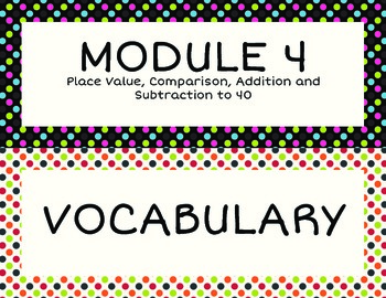 1st Grade EngageNY Math Module 4 Standards Objectives and Vocabulary