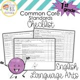 1st Grade English Language Arts (ELA) Common Core Standards Checklist
