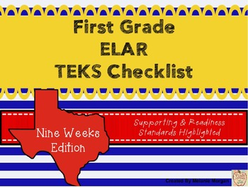 1st Grade English Language Arts and Reading TEKS Checklist