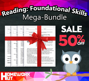 1st Grade English Reading: Foundational Skills ( CCSS Aligned / MEGA BUNDLE )