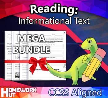 1st Grade English Reading: Informational Text ( CCSS Aligned / MEGA BUNDLE )