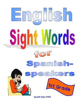 1st Grade English Sight Words for Spanish-speakers