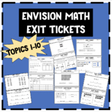 1st Grade Envision Math Exit Tickets Bundle