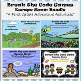 1st Grade Digital Escape Room-Distance Learning-Google Forms-Math-Bundle