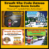 2nd Grade Escape Room Fall Seasonal Bundle (Math Calculation & Word Problems)