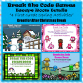 1st Grade Escape Room Spring Seasonal Bundle (Math Calculation & Word Problems)