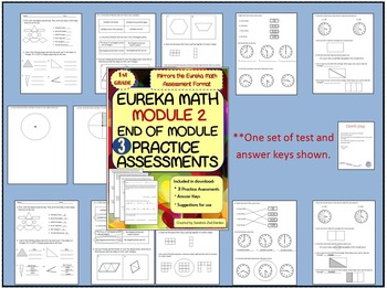 1st Grade Eureka Math Based Practice Assessments for Module 5 with Answer Keys
