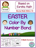 1st Grade Eureka Math Easter Color by Number Bond Within 10