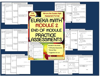 1st Grade Eureka Math / Engage NY End of Module 2 Practice Assessments