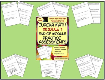 1st Grade Eureka Math / Engage NY End of Module 1 Practice Assessments