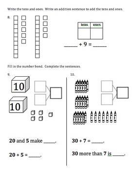 1st Grade Eureka Math/Engage NY Module 4 A-F Assessments