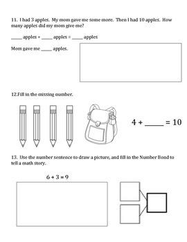 1st Grade Eureka Math Module 1 A-C Assessment